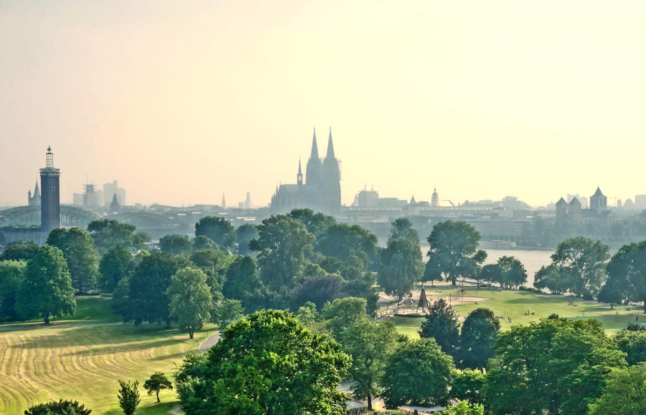 Der Rheinpark in Köln